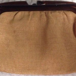 Handbags - Vintage ITALIAN BAKELITE Handle Kelly Style Purse